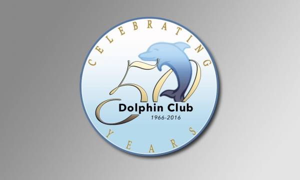 Dolphin Club 50th anniversary logo design