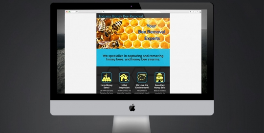 Website design for Indiana Honey Bee Removal