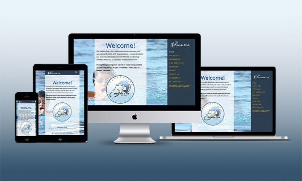 Responsive Website Design for the Dolphin Club, Anderson, Indiana