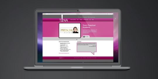 Website design for Tina Houser Ministries